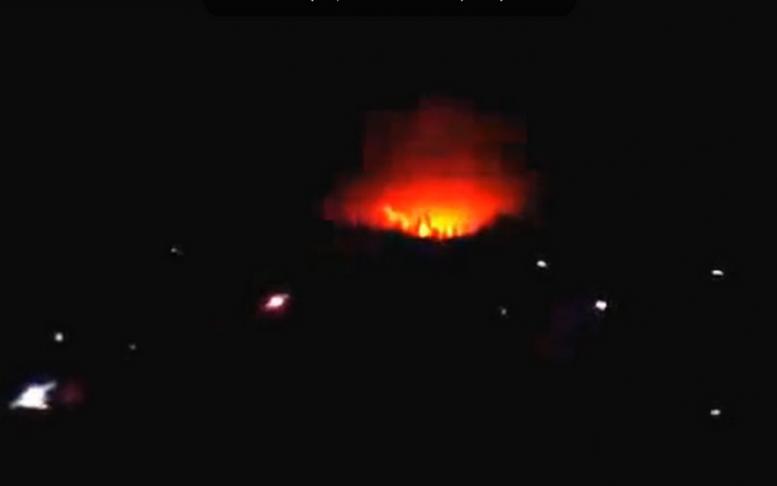 ночной обстрел Донецка 08.02.2015
