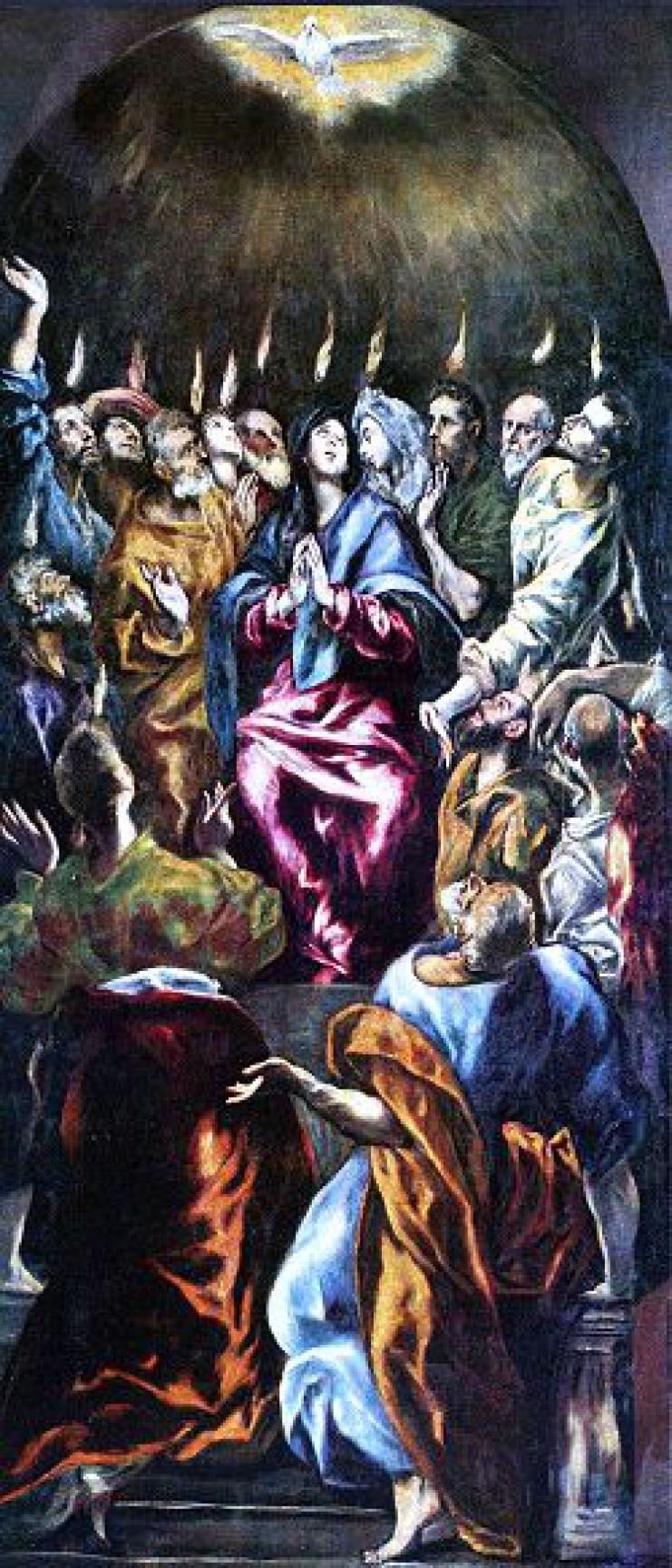 эль греко сошествие святого духа