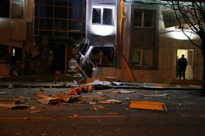 Взрыв в Одессе, бизнес-центр Адмиральский