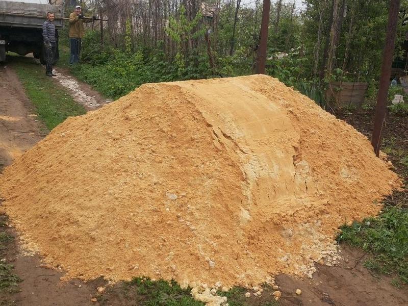 20 тонн песка это сколько