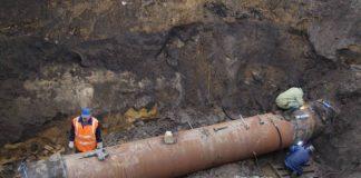 Прорыв трубопровода