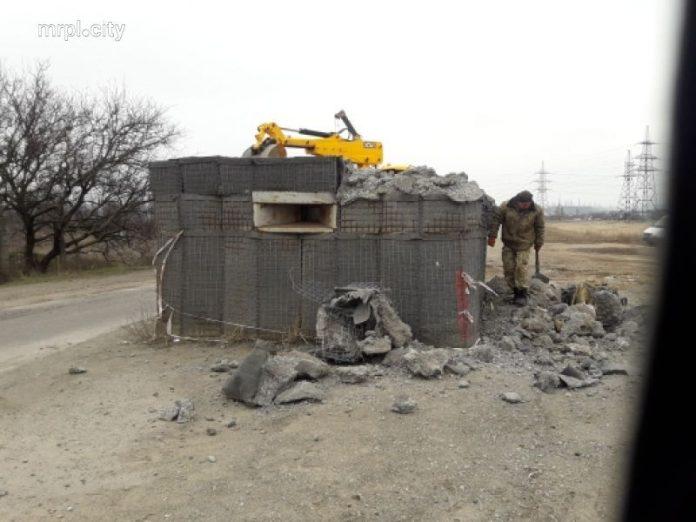 Блокпост под Мариуполе разобран неизвестными