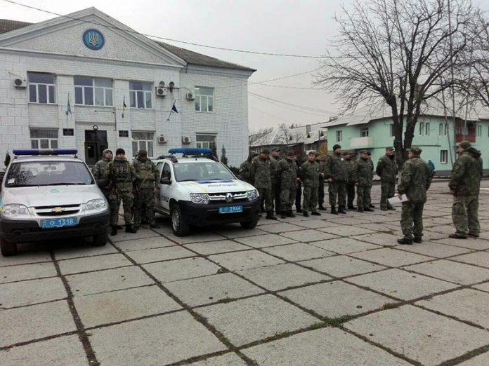 Усиленное патрулирование улиц в Марьинке