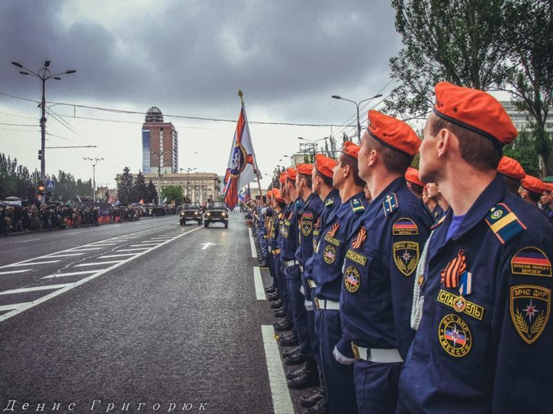 Парад Победы в Донецке 2019