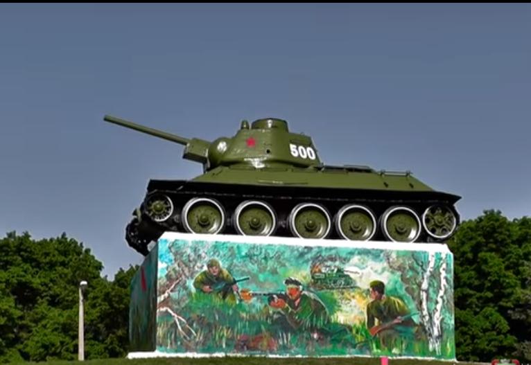 Танк Т-34 в Горловке