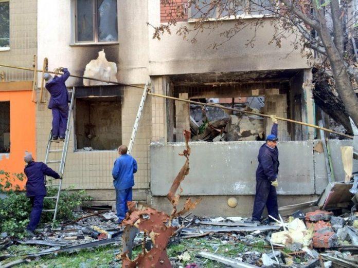 Обстрел жилых домов в ДНР