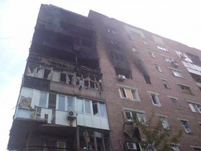 Пожар в жилом доме Донецка