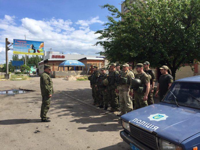 В Селидово прошли учения полицейских