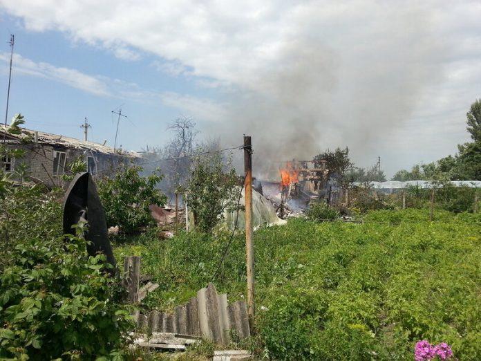 Обстрел населенных пунктов Горловки
